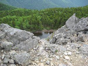 Горное озеро на горе Ольховой, Приморский край